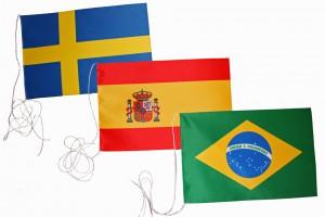 Bordsflaggor länder