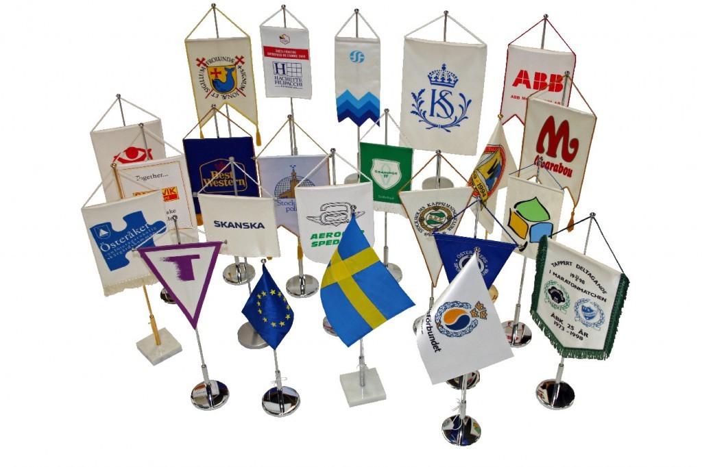 Bordsflaggor och standar modeller