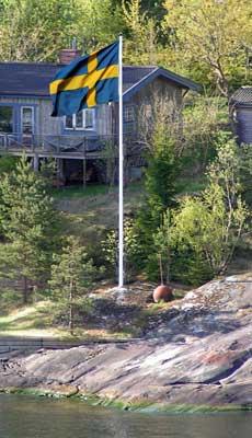 Flaggstång-skärgård