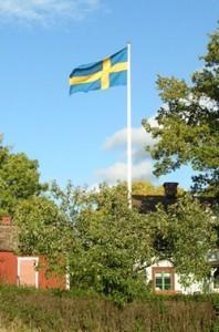 Flaggstång till stugan