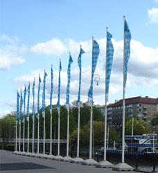 Fundament flaggstänger