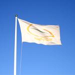 Reklamflagga i flaggstång
