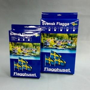 Svenska flaggor ny förpackning