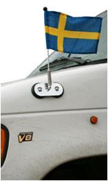Bilflagga bilflaggstång
