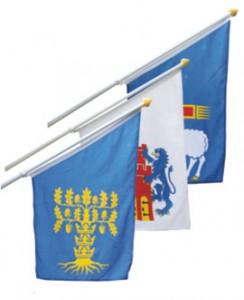 Fasadflagga landskapsflagga