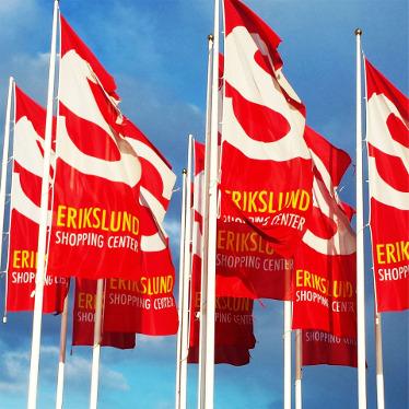 Reklamflaggor med tryck