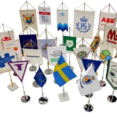 Bordsflaggor & -stänger